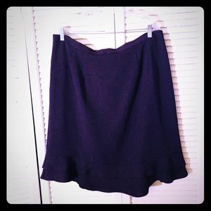 🎉$10 SALE🎉EUC VTG PLUM brocade ruffle skirt